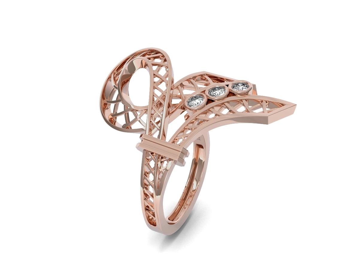 Bague Jubilé - Diamants blancs – Or rose 18 carats
