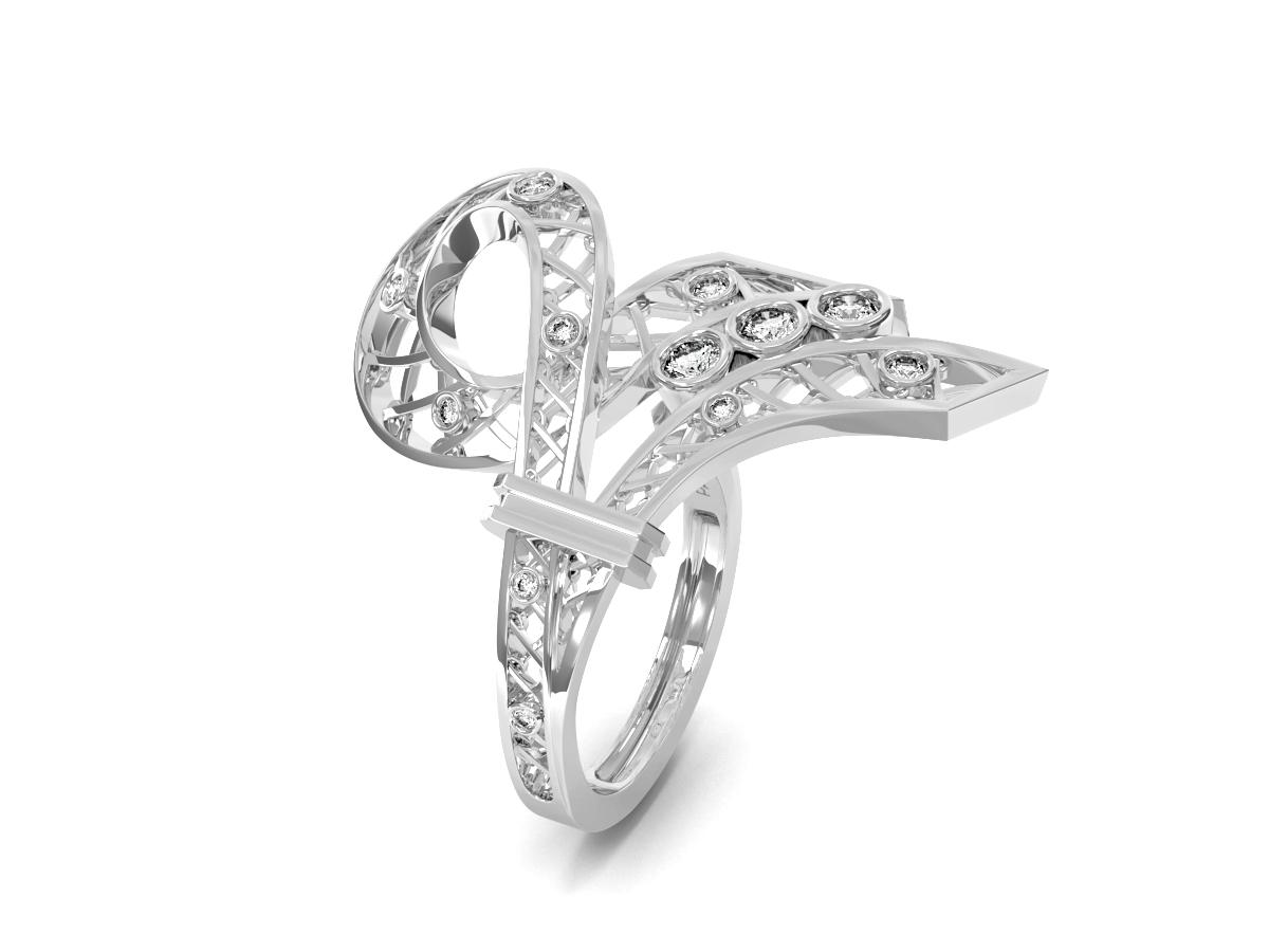 Bague Jubilé - Diamants blancs – Or blanc 18 carats