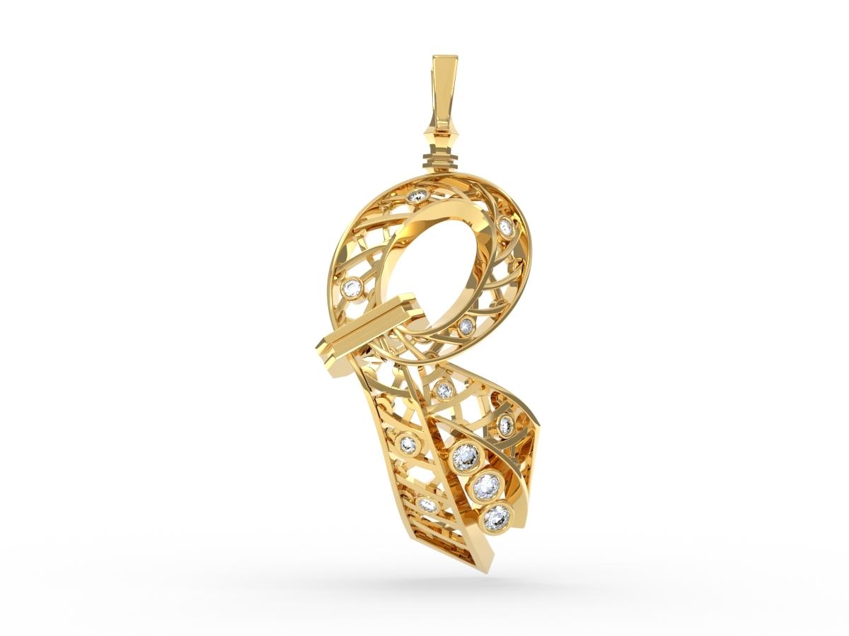 Pendentif Jubilé - Diamants blancs – Or blanc 18 carats