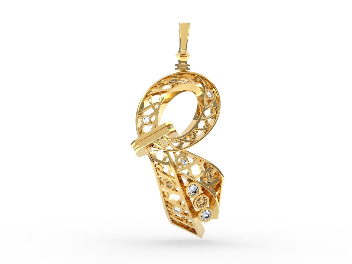 Pendentif Gala - Diamants blancs – Or blanc 18 carats