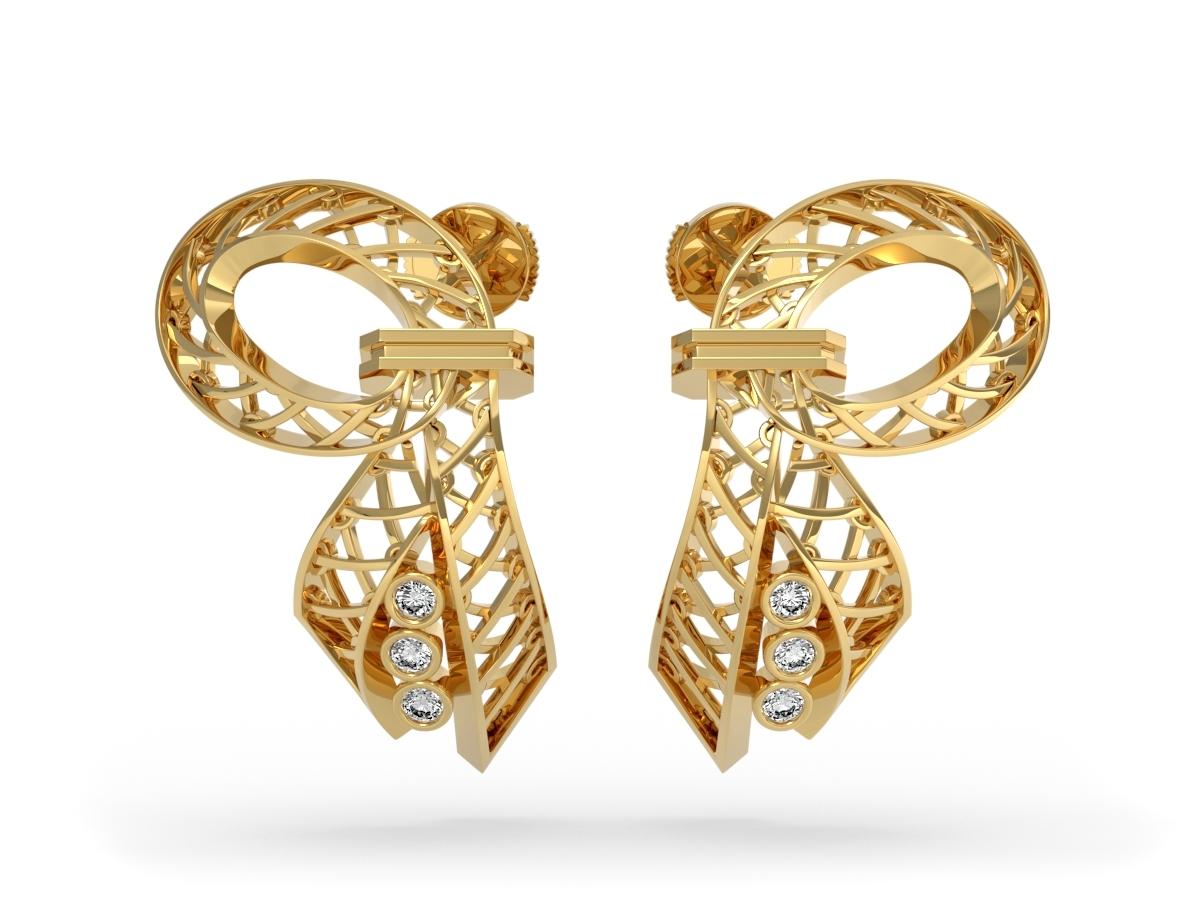 Boucles d'oreilles Jubilé - Diamants blancs – Or blanc 18 carats
