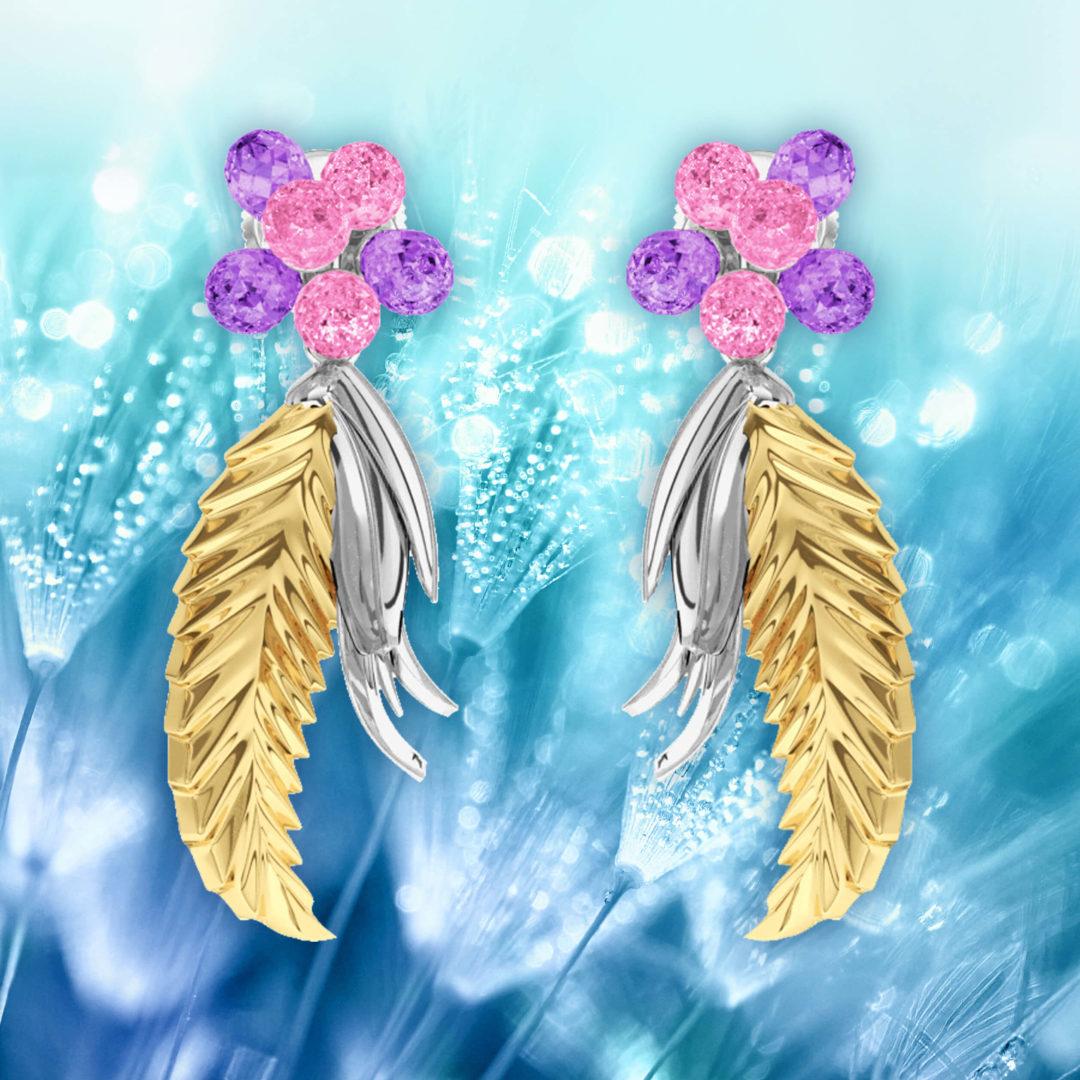 Boucles d'oreilles Flowers Leaf