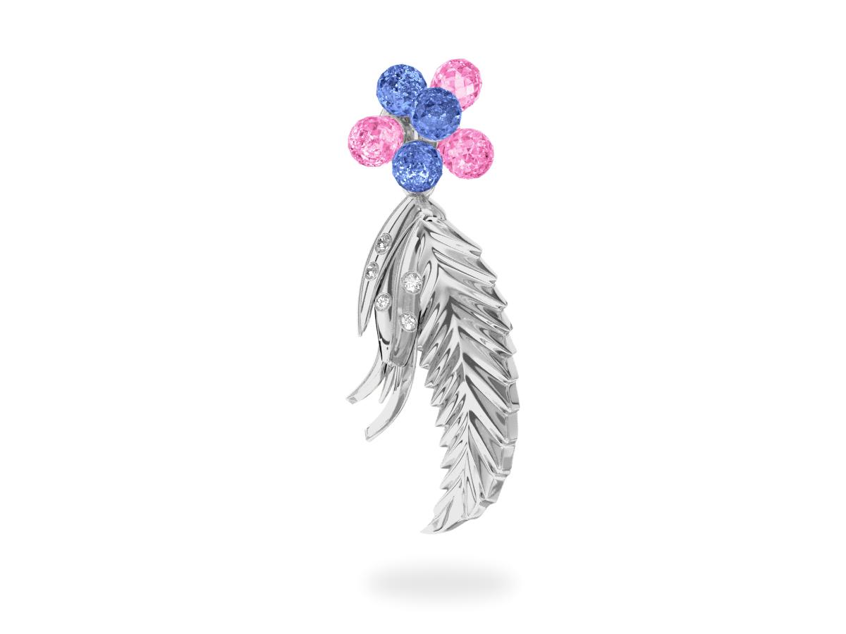 Pendentif Flowers Blue & Pink   -